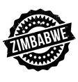 Zimbabwe stamp rubber grunge vector image