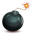 bomb about to blast vector image