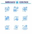 9 blue corona virus pandemic soap message dna vector image vector image