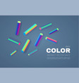 abstract background with neon rainbow elements vector image