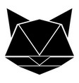 abstract low poly cat icon vector image vector image