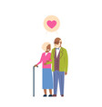 african grandparents couple in love full length vector image