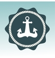 Anchor nautical symbol badge vector image vector image