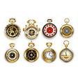 antique watch collection vector image vector image