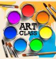 art class workshop template design kids art craft vector image vector image