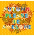 Autumn card with wreath of leaves and wishes vector image vector image