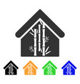 bamboo house icon vector image vector image