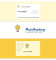 beautiful bulb logo and business card vertical vector image