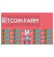 bitcoin farm thin line concept vector image