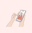 blogging communication social media network vector image vector image