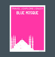blue mosque istanbul turkey monument landmark vector image
