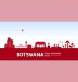 botswana travel destination vector image vector image