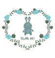 Card with hare vector image