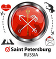 card with saint petersburg russia vector image