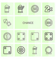 chance icons vector image vector image