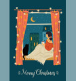 christmas and happy new year trendy retro style vector image