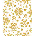 christmas seamless pattern background with gold vector image vector image