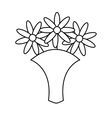 cute flowers isolated icon vector image vector image