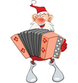 Cute Santa Claus Accordion Player vector image