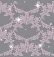 damask pattern sparkling vector image vector image