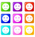 dead emoticons 9 set vector image vector image