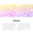 design line template vector image