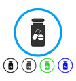 drugs phial rounded icon vector image vector image