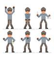 evil greedily housebreaker thief cartoon rogue vector image vector image