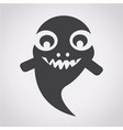 ghost halloween icon vector image