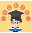 graduated boy vector image vector image