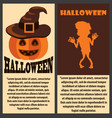 halloween congratulation scary colorful poster vector image