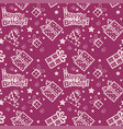 happy birthday hand drawn pattern background with vector image vector image