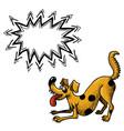happy dog-100 vector image vector image