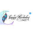 happy ramadan greeting card vector image