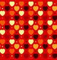 hearts and dots vector image vector image