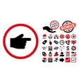 Index Finger Flat Icon with Bonus vector image vector image