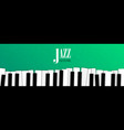 jazz music event banner with piano background vector image vector image