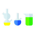 laboratory glass with chemical colored substance vector image