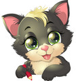 little kitten vector image