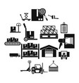 logistic icons set simple style vector image