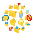 mail icons set cartoon style vector image vector image