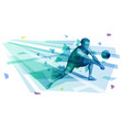 male volleyball player making a forearm pass vector image
