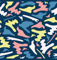 memphis style camouflage shapes seamless vector image