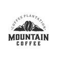 mountain coffee cafe outdoor coffee brand label vector image vector image