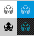 octopus simple line style logo icon vector image