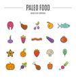paleo food vector image vector image