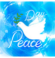 peace dove with olive branch vector image