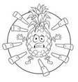 pineapple target coloring book vector image vector image