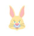 rabbit happy emoji hare merry emotions animal vector image