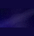 realistic starry night sky with milky way vector image vector image